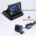 """O envio gratuito de Câmera de Visão Traseira Do Carro kit 4.3 """"LCD a Cores Espelho Monitores + Mini Back Up Estacionamento Câmera de Visão Noturna"""