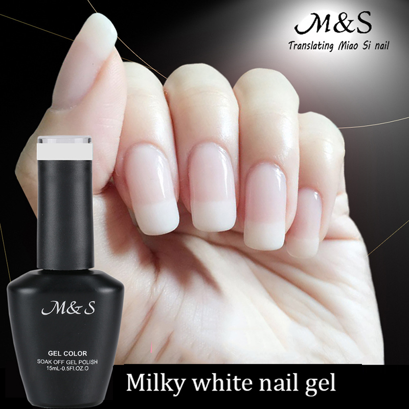 buy 15 ml charming milky white soak off nail gel gradient transparent lady white uv gel french. Black Bedroom Furniture Sets. Home Design Ideas