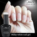 15 ml Charming Milky White Soak Off Nail Gel Gradient Transparent Lady White UV Gel French Ceramic Nail Polish for Winter ZJY027