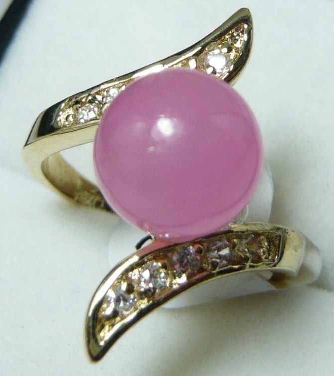 ร้อนขาย>@@ขายส่งหรูหราของขวัญคริสต์มาส18kgpคริสตัลชุบ10มิลลิเมตรรอบสีม่วงหยกแหวนลูกปัด(7,8, 9 #) R008 #