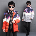Boys Winter Parkas Coats Casual Warm Solid Kid Vestidos Fashion Children Down Jacket Thick Infant Hooded Clothing Outerwear 5-14