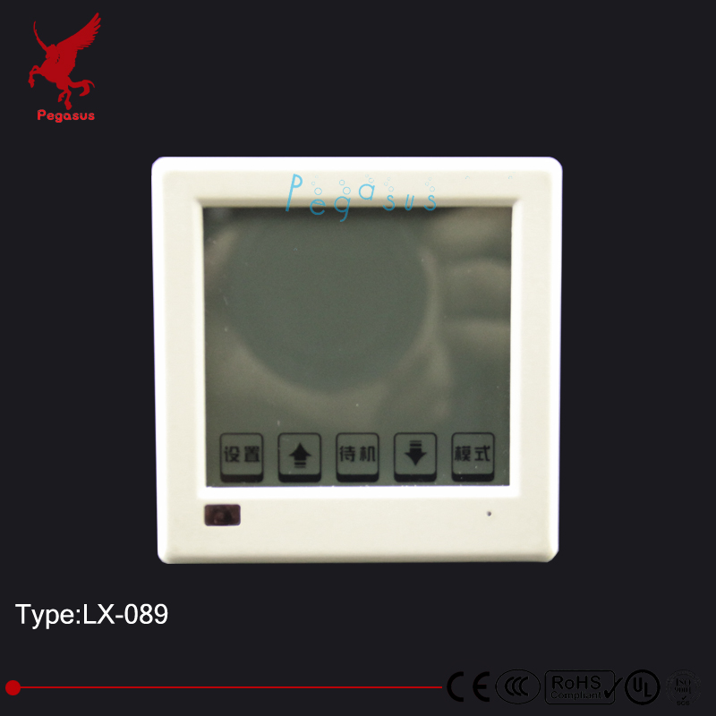 LX089 intelligent liquid crystal display temperature controller Floor heating thermostat heating film heating wire thermostat floor heating thermostat temperature control switch electric film thermostat electric geothermal uth 170r