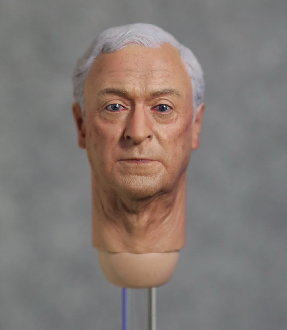 1/6 figure doll head shape for 12 action figure doll accessories Batman Begins Alfred Head carved not include body,clothes hot figures doll accessories pirp toys 1 6 batman police commissioner gordon inspector dresscode clothes set for 12 figure body