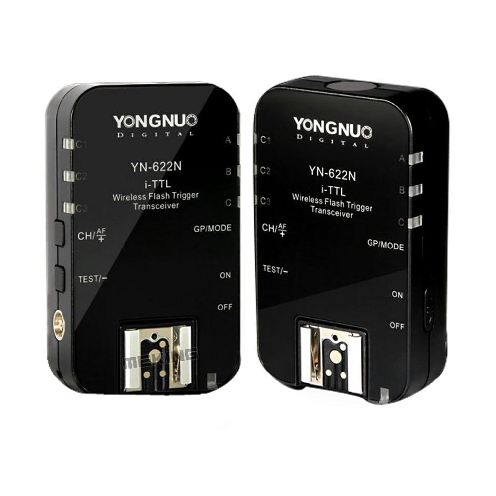 YONGNUO YN-622N YN-622 N Wireless TTL Flash Trigger for Nikon D7200 D7100 D5200 D5100 D5000 D3200 D3100 D3000 D90 D80 D800 D700 godox tt685 n tt685n speedlite high speed sync external ttl for nikon flash d80 d90 d7100 d5100 d5200 d3100 d3200 cameras