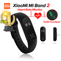 Em estoque original xiaomi miband 2 mi banda 2 de fitness rastreador Monitor De Freqüência Cardíaca Do Bluetooth 4.0 Display OLED Touchpad Para Android