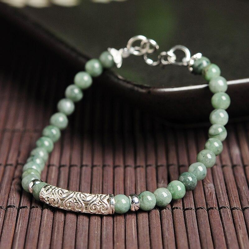 Original Beads: Original Beads Natural Jade Beads Bracelet Burmese Jade