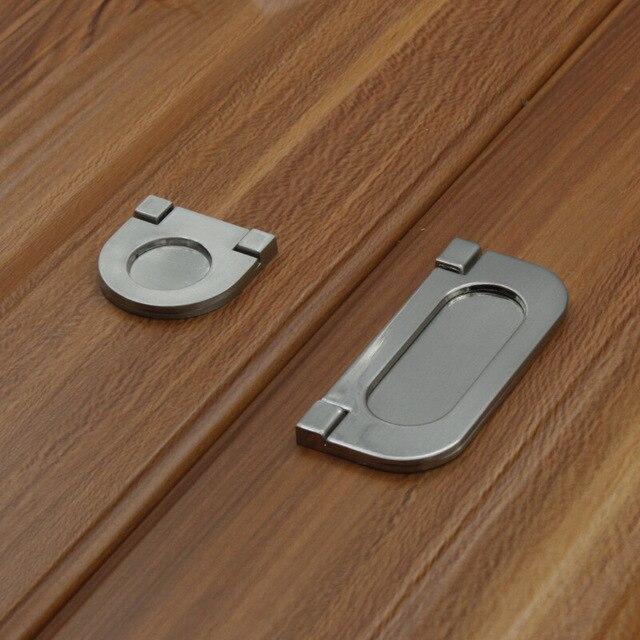 5 stücke Moderne minimalistische küche schublade versteckte türgriff ...