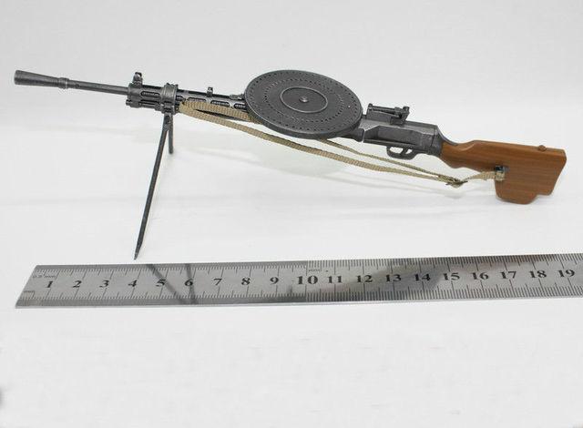 DP28 Оружия Модели Игрушки Коллекции 1/6 WW2 РОССИЮ LMG Дегтярев LIGHT MACHINE Gun Модель Военный Солдат Аксессуары