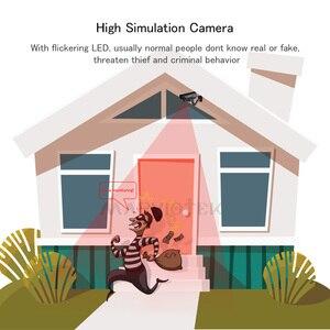 Image 5 - Manequim falso câmera externa de vigilância, bala à prova d água, interior de casa, vídeo cctv, câmera com pisca, vermelho, led