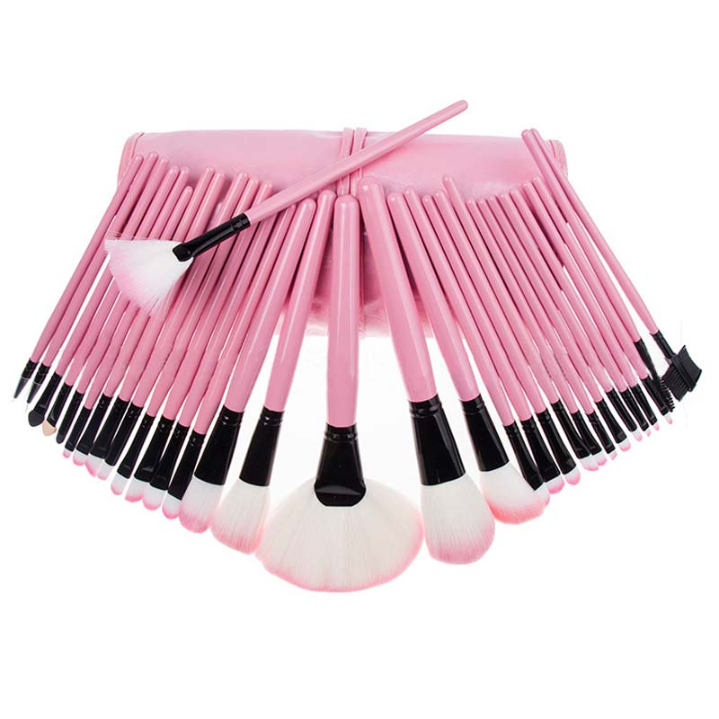 32pcs/set Makeup Brushes Set professional Soft Synthetic Hair Eyeshadow powder Brushes Cosmetics Make up Brush Tools kit h01 professional makeup brushes squirrel hair sokouhou goat hair powder brush walnut wood handle cosmetic tools make up brush
