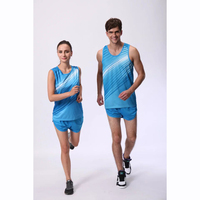 New Lovers Fitness Running Sets Men And Women Marathon Athletics Competition Clothing Training Suits JJS 208