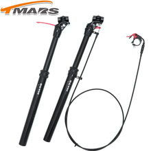 Tmars Dropper Seatpost Adjustable Height 27.2X440mm Remote Control Manual Hand Mechanical MTB Bike 28.6 30.0 30.4 30.9 31.6
