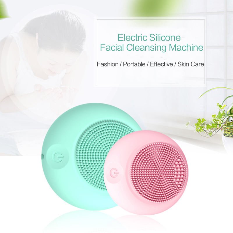Sonic Facial Cleansing Brush Device Silicone Powered Face Cleaner Portable Pore Dirt Removal Black Head Pimple Skin Oil Control 2