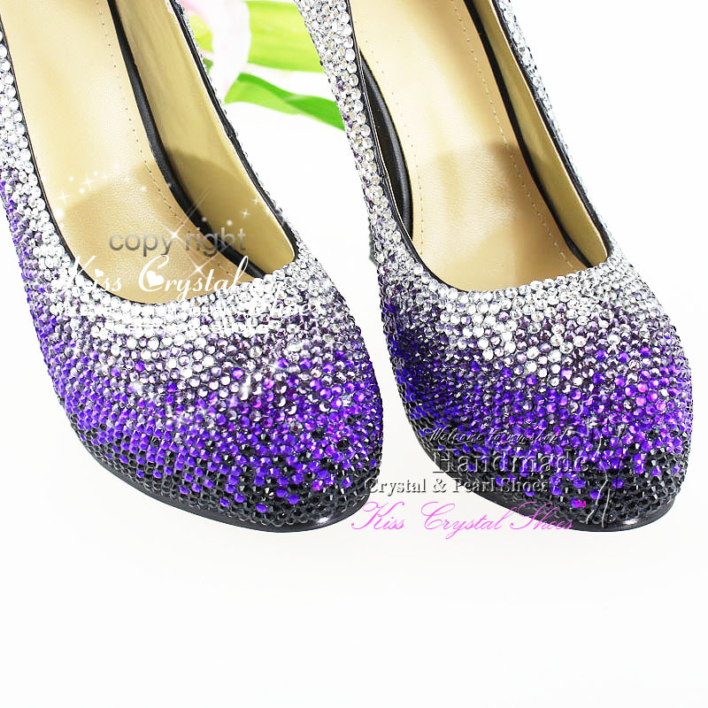 Aliexpress.com : Buy Ladies High Heels Shoes Proforma Pumps Purple ...