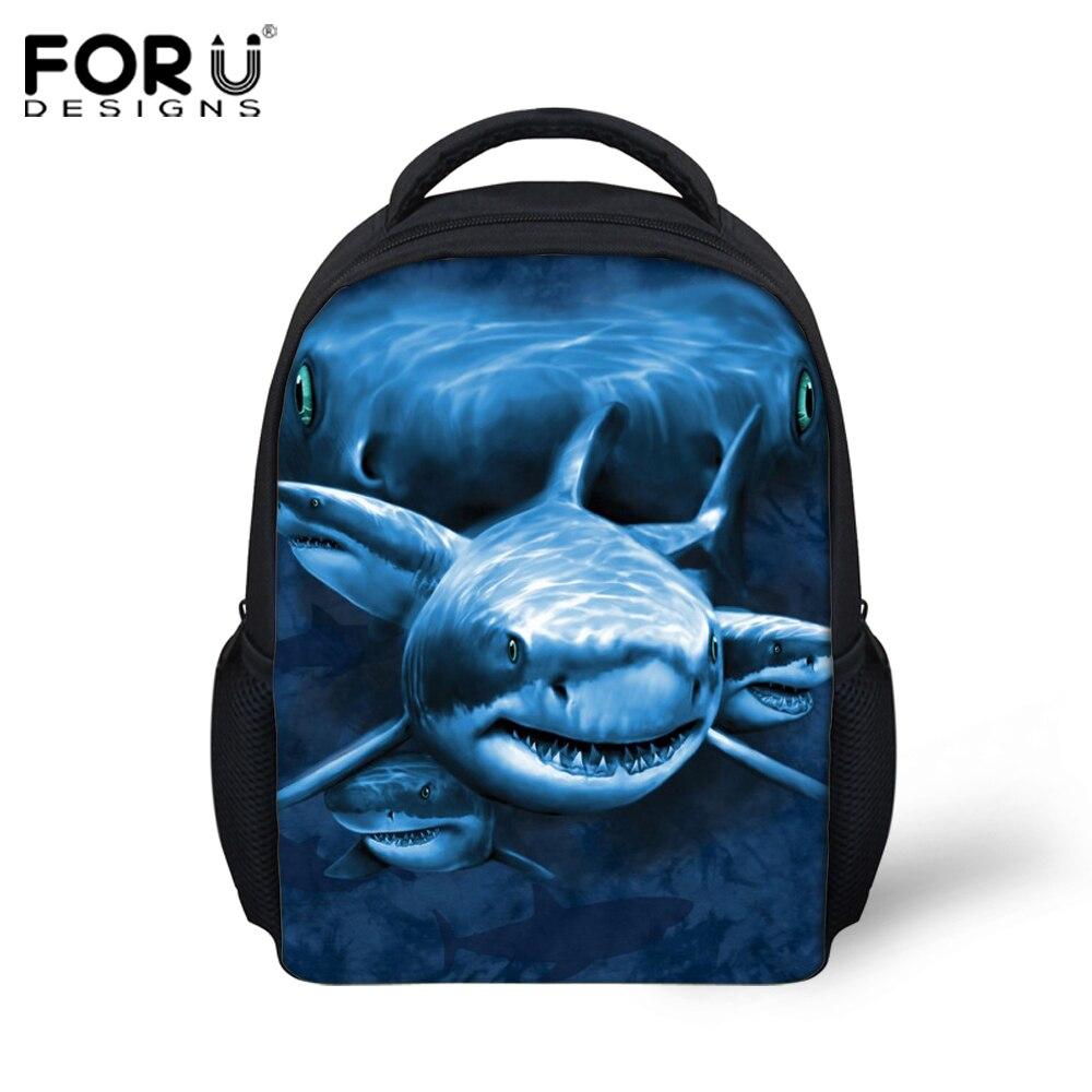 12-inch Mochila Infantil Shark Dolphin Prints Backpack Children School Bags Boys Small Animal Schoolbags Backpacks Kids Girl Bag new style school bags for boys