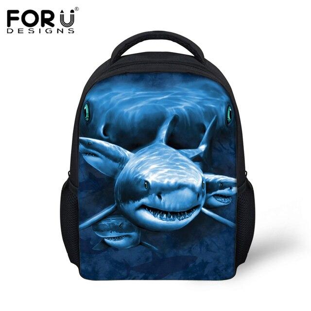 aef7463ae6d 12-inch Mochila Infantil Shark Dolphin Prints Backpack Children School Bags  Boys Small Animal Schoolbags Backpacks Kids Girl Bag