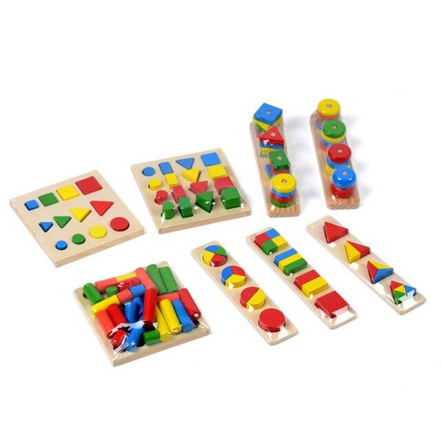 Детские Игрушки Монтессори Сенсорные Игрушки 1 лот = 8 шт. Дошкольное Образование Дошкольное Обучение Детей Игрушки Brinquedos Juguetes