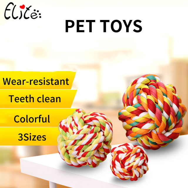 Pet Dog Chew Toys Cotton Ball Funny Interactive Puppy Treat Trainning Chewing Toy For Dog Cats Teeth Cleaning Toy Pet Supplies