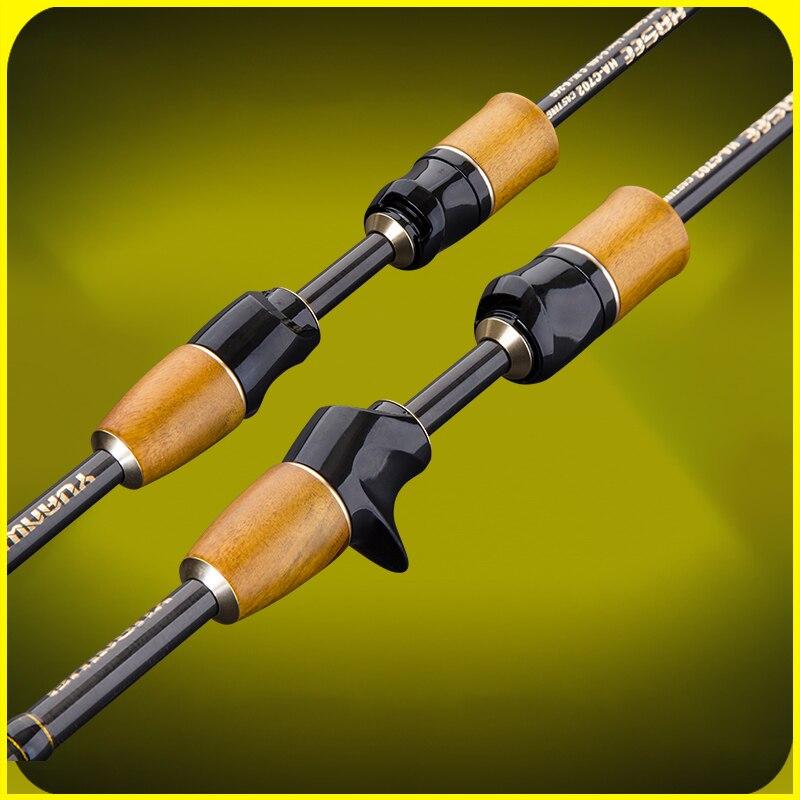 Yuanwei coulée filature canne à pêche Action rapide 1.8M 2.1M M/ML/MH puissance aluminium guide Fiber de carbone canne à pêche A059