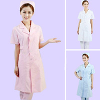 Women Short Sleeve Medical Coat Clothing Physician Services Uniform Nurse Clothing Protect Lab Coats Cloth 3