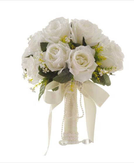 Simple Flower Bouquets For Weddings: MissRDress Simple Wedding Bouquets Ivory Bridal Bouquets
