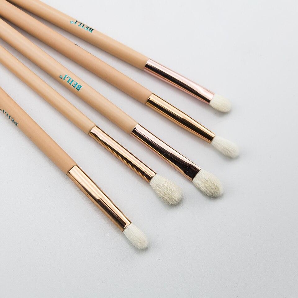 BEILI 15Pcs Pink Rose Gold Makeup brushes Natural goat Pony Hair Foundation blush eye Blending Contour Powder Professional set 4