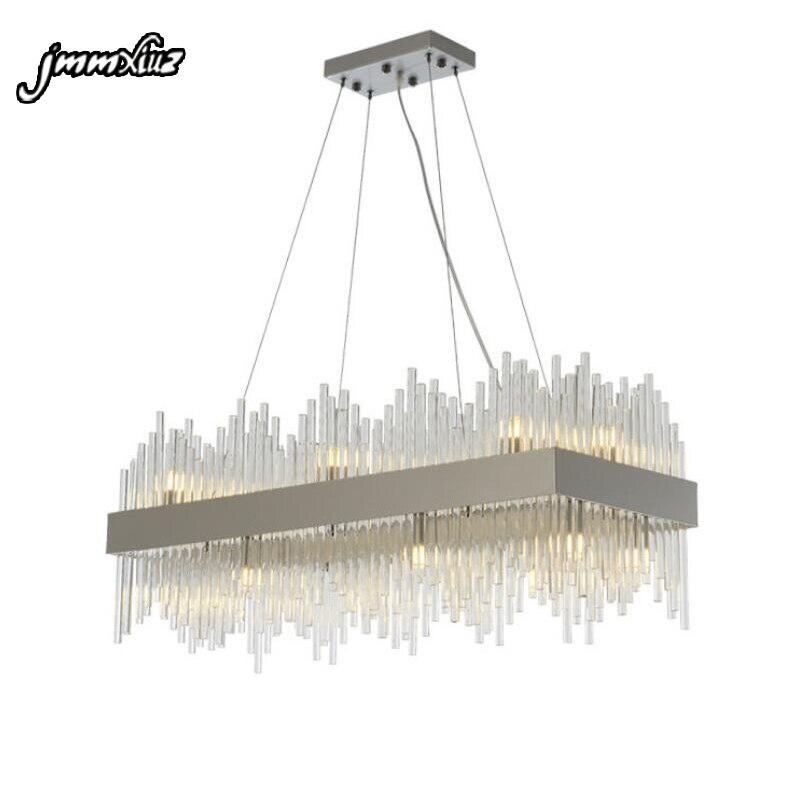 Jmmxiuz New Rectangular Pendant Lights Modern Lamp Ac110v: Jmmxiuz Rectangle Modern Chandelier Lighting Luxury Dining