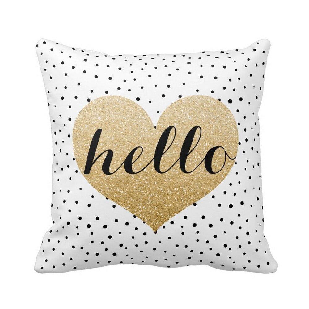 popular heaven brand buy cheap heaven brand lots from china heaven fashion heaven hot sale 100 brand new heart black dots square throw pillow case cushion