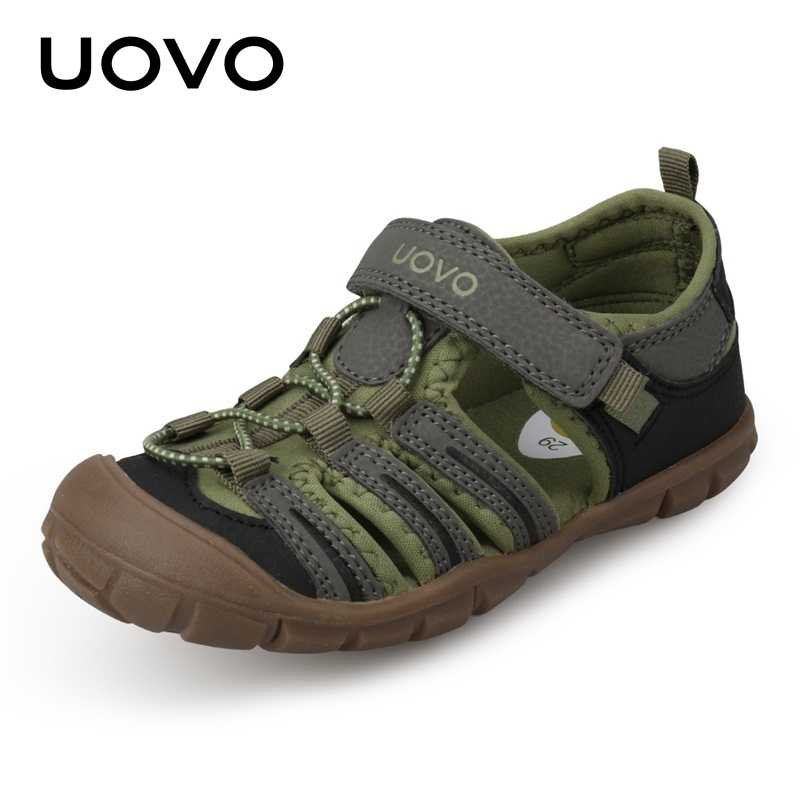 UOVO 2018 New Kids Sandals Boys Summer Fashion Shoes Breathable Little  Children Footwear For Boys Beach 5355b30e422e
