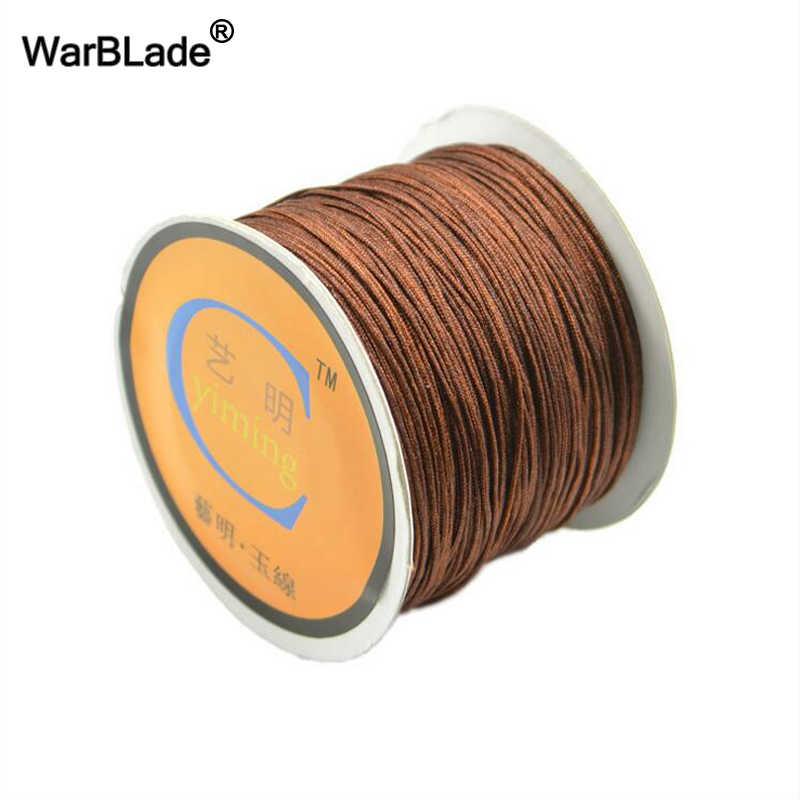 คุณภาพสูง 100 เมตร/Spool 0.8 มิลลิเมตร 1 มิลลิเมตร 1.5 มิลลิเมตร 2 มิลลิเมตรผ้าฝ้ายด้ายไนล่อน String DIY Beading Braided สร้อยข้อมือเครื่องประดับ