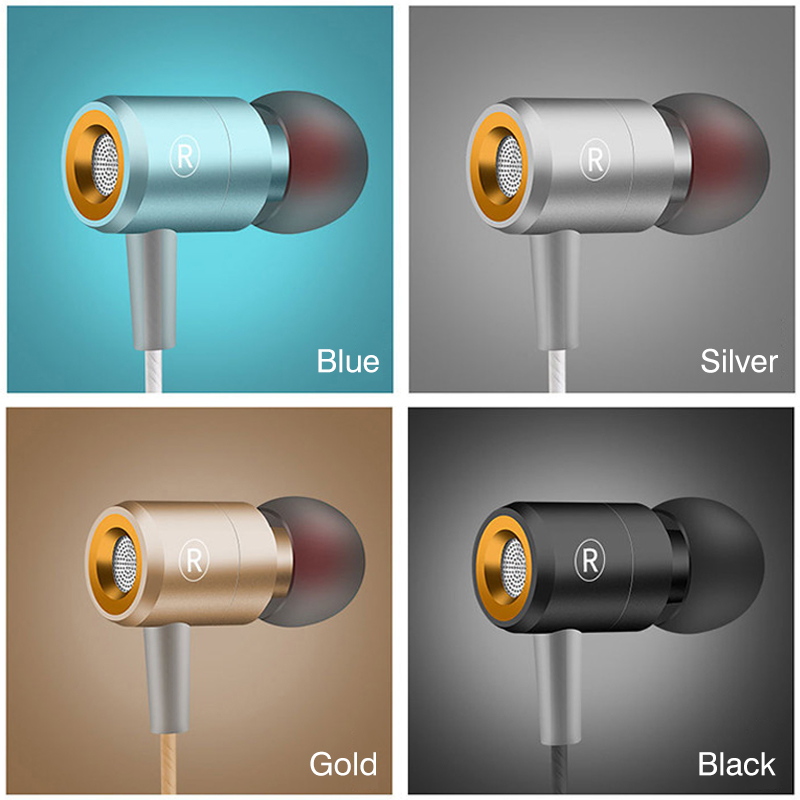 Headphone Earphone 3.5mm Jack Headset With Mic Microphone Super Bass Stereo In Ear Earphones For All Phone Computer For Xiaomi