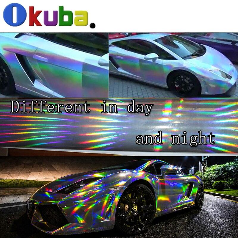 Aliexpress Com Buy Holographic Chrome Vinyl Laser