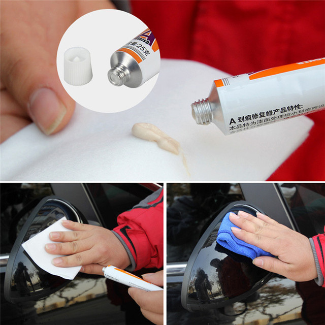 Car Accessories Body scratch repair + paint surface film wax + special cleaning cloth Car Windshield Cleaning Auto Glass Window