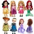 Sharon Doll Princesa Sofia Princess Animadores Merida Rapunzel Ariel Cinderella Blancanieves Belle Aurora Princesa muñecas para La Muchacha