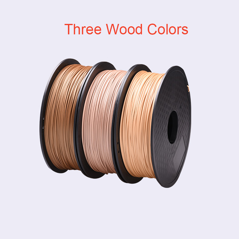 PLA Wood Filament 1.75mm for 3D Printer 0.8kg Wooden Effect 3D Pringting Material High Quality Plastic 3D Consumable Materials