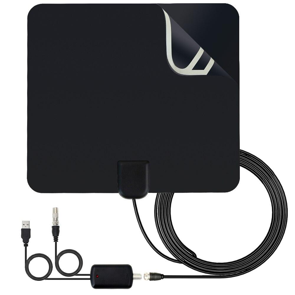 Heißer Verkauf Indoor TV Antenne High Gain Verstärker HDTV Digital TV Signal Empfang 80 Meilen Reichweite Für DVB-T DVB-T2 Sat empfänger