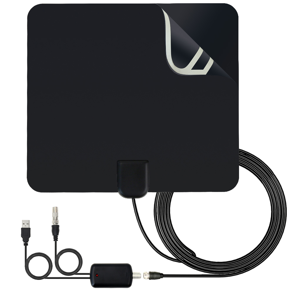 Hot Selling Indoor TV Antenna High Gain Amplifier HDTV Digital TV Signal Reception 80 Miles Range For DVB-T DVB-T2 Sat Receiver