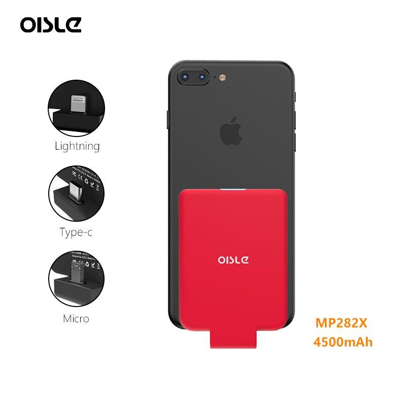 4500mAh batterie externe mignonne avec récepteur sans fil Qi pour iPhone/Xiaomi redmi note 5/Huawei Honor 9/One plus 6 chargeur de batterie
