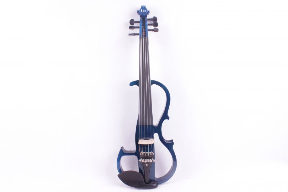 4/4 blue 6  string Electric violin High quality handmade new solid maple wood brown acoustic violin violino 4 4 electric violin case bow included
