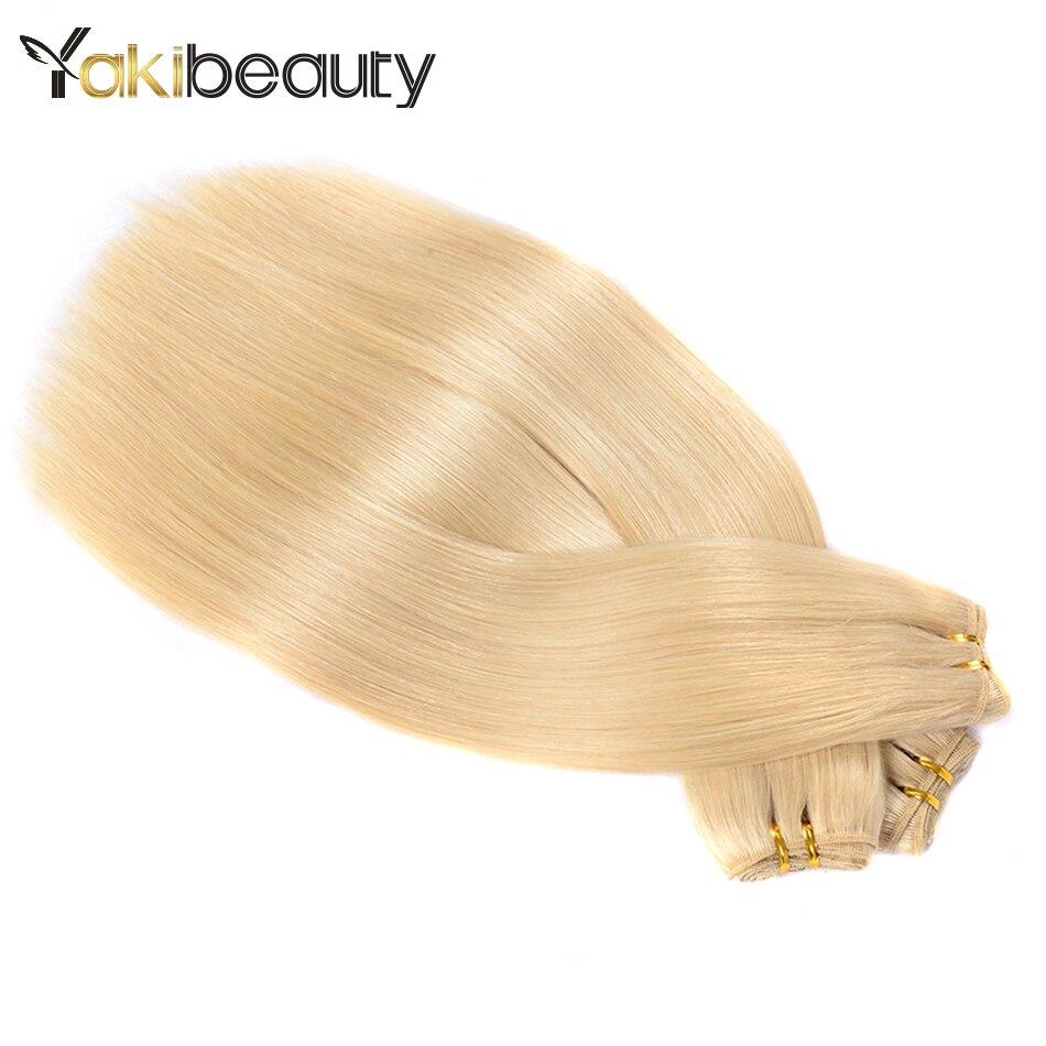 #613 Honey Blonde Cheveux Bundles Brésilien Cheveux Raides Armure 1/3/4 Regroupe Offres Remy de Cheveux Humains platine Faisceaux 18-24 pouce