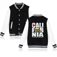 California Flag Jackets Men U S A California Flag Winter Jacket Men Fashion Casual Hip Hop