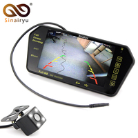 Sinairyu Car Parking Assistance System 7 MP5 Rearview Mirror Monitor Support SD/USB FM Radio with Night Vision Rear View Camera