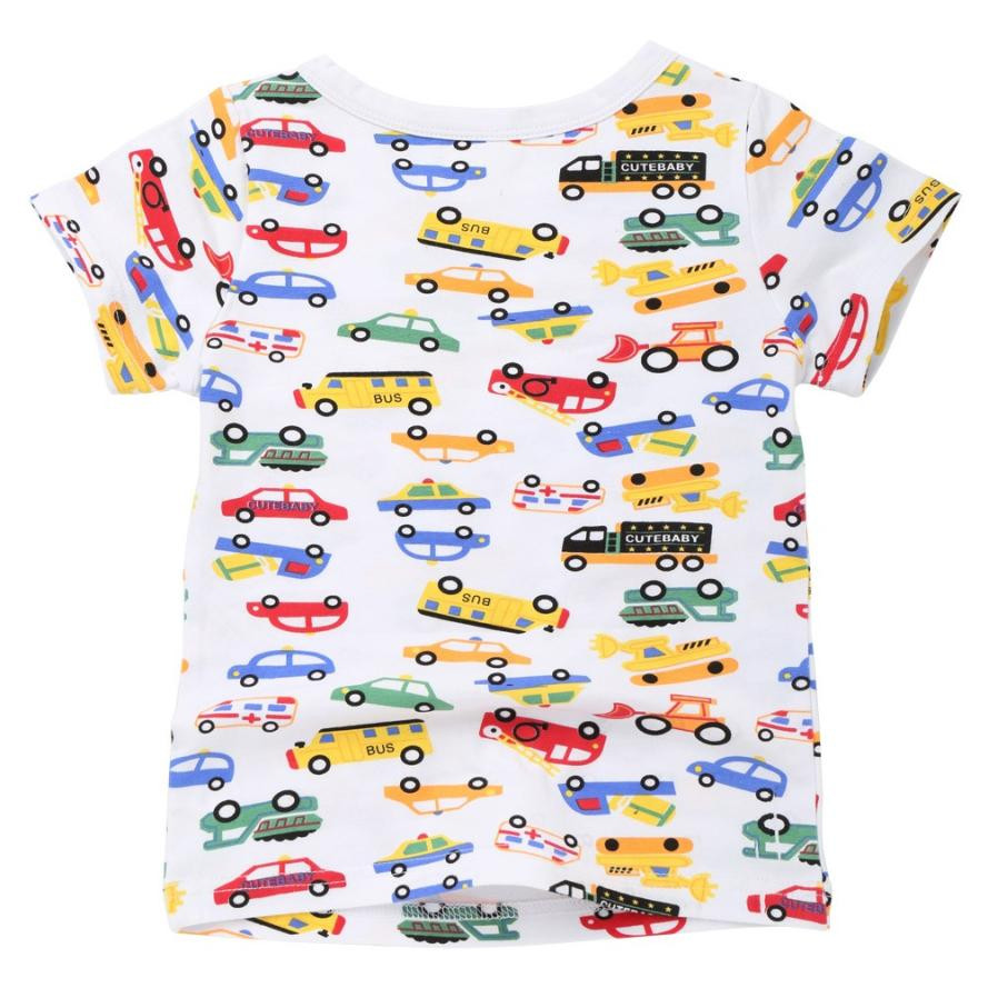 MUQGEW Childrens Clothes Children Infant Kid Girls Boys Letter Car Star Print T-shirt Tops Shirts Tee