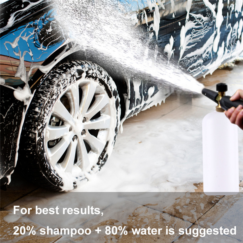 High Pressure Washer Foam Gun Adjustable 1L Power Washing Snow Foam Gun Car Detailing Foam Generator Karcher Car Washing Sprayer