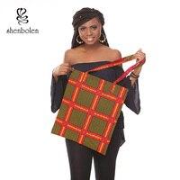 African Bag High Quality Tradition Ankara Bag cotton Wax Prints Fabric for HandmadeWoman Bag