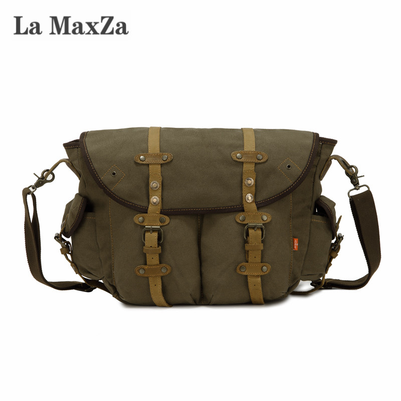 La Maxza Fashion Casual Messenger Bag Large Capacity Commuter Canvas Bag Cross Border Supply commuter