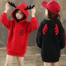Teen Kids Fleece Sweatshirt Autumn Winter Thick Hoodie Christmas Sweatshirt for Girls Tops 12 Year Kids Outfits Children Clothes cheap Still Cool Without CN(Origin) Active Cotton Fits smaller than usual Please check this store s sizing info Solid Regular