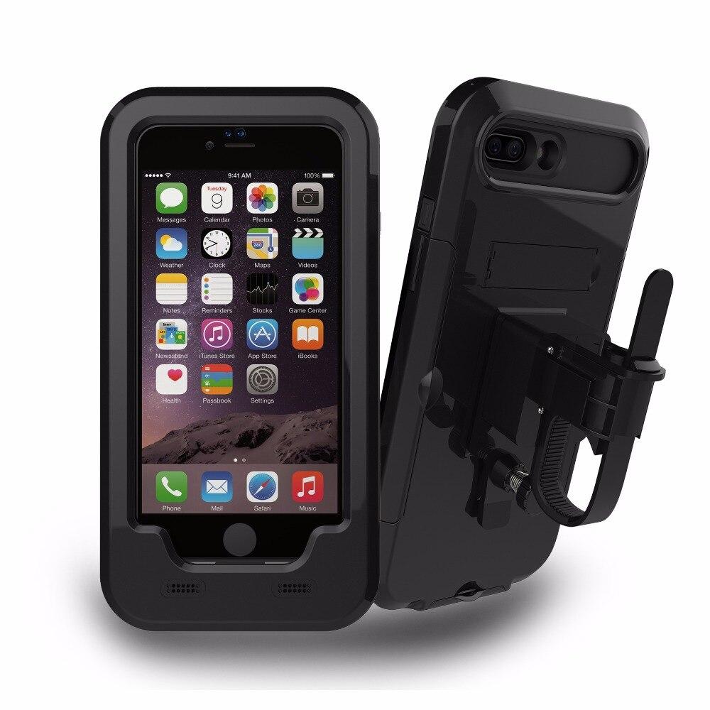 bilder für Wasserdichte Motorrad Handyhalter Handyhalter für iPhone 7 5 S 6 6 S Plus Unterstützung Moto Fahrrad GPS Halter Handytasche Coque