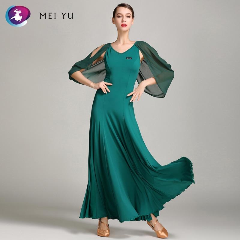 Koop Goedkoop Mei Yu S9020 Moderne Dans Kostuum Vrouwen Dames Dancewear Waltzing Tango Dansen Jurk Ballroom Kostuum Avond Party Dress