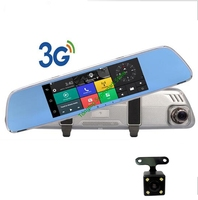 3G Android DVR GPS 7.0in rearview mirror camera ROM 16GB night vision car video recorder car dvr with two cameras